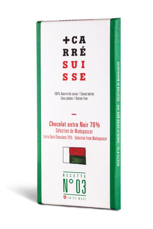 Chocolat Carré Suisse - Madagascar extra noir 70%
