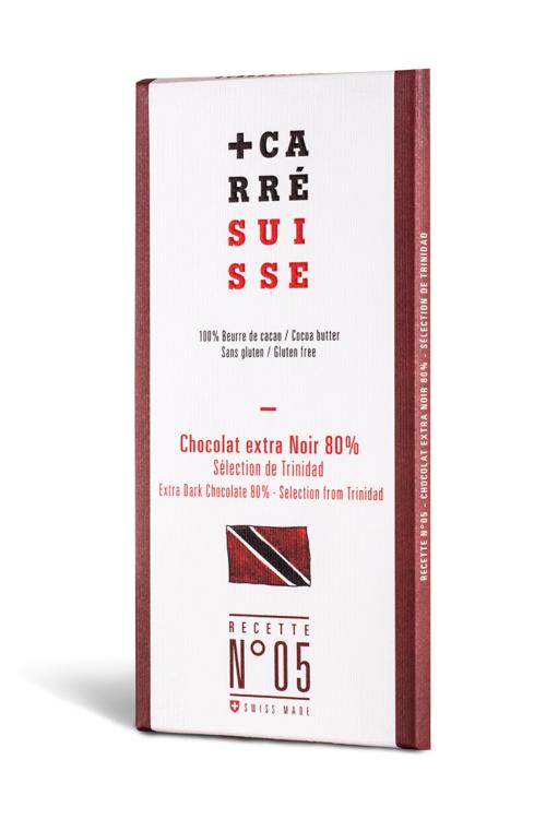 Chocolat Carré Suisse - Trinidad extra noir 80%