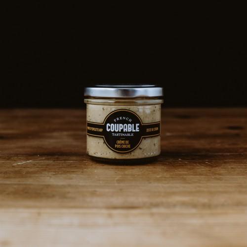 Coupable Tartinable - crème de pois chiche / piment d'Espelette / zeste de citron